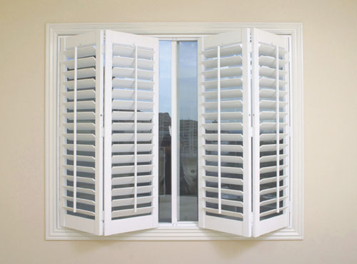 plantation shutters - wood shutters provide elegance and functionality to any decor